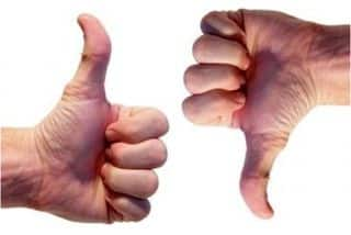 Thumbs up-down